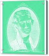 Thomas Jefferson In Negative Green Acrylic Print
