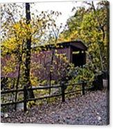 Thomas Mill Covered Bridge Over The Wissahickon Acrylic Print