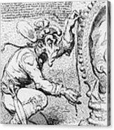 Thomas Paine Caricature Acrylic Print