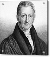 Thomas Robert Malthus Acrylic Print