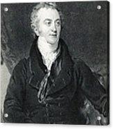 Thomas Young, English Polymath Acrylic Print by Photo Researchers
