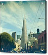 Those Sunny Downtown Days Acrylic Print