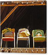Three Chairs With A View Acrylic Print