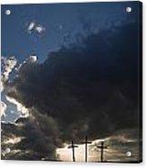 Three Crosses, West Yorkshire, England Acrylic Print