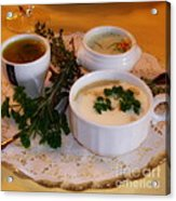 Three Cups Of Soup Acrylic Print