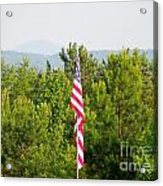 Three Flags And Kennesaw Mountain Acrylic Print