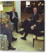 Three Former Presidents Gerald Ford Acrylic Print by Everett