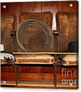 Three Hats A Lasso And A Cane At The Old Movie Theater . 7d12726 Acrylic Print by Wingsdomain Art and Photography
