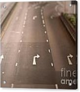 Three Lanes Acrylic Print