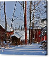 Three Little Houses Acrylic Print
