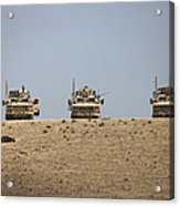 Three M-atvs Guard The Top Of The Wadi Acrylic Print