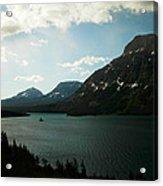 Three Mountains On Many Glacier Lake Acrylic Print