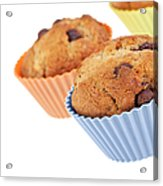 Three Muffins Acrylic Print by Jane Rix