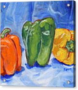 Three Peppers Acrylic Print