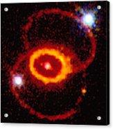 Three Rings Of Glowing Gas - Supernova Acrylic Print