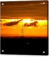 Three-tier Sunset Acrylic Print