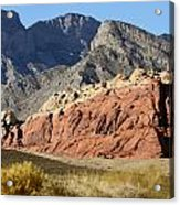 Three Tones Of Mountain Stone Acrylic Print