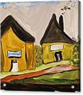 Three Yellow Houses With Picture Windows Acrylic Print