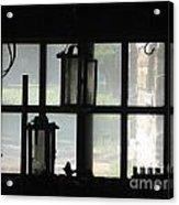 Through A Cabin Window Acrylic Print