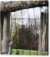 Through The Eye Of The Stick Wood Fence Acrylic Print