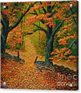 Through The Fallen Leaves II Acrylic Print
