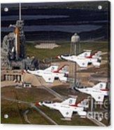 Thunderbirds Fly Past Endeavour Acrylic Print