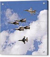 Thunderbirds Solos Break Acrylic Print