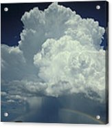 Thunderclouds And Rinbow Acrylic Print
