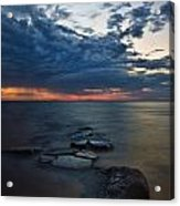 Thunderclouds On The Bay Acrylic Print