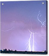 Thunderstorm On The Colorado Plains Panorama Acrylic Print