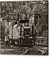 Thurmond Wv Train Sepia Acrylic Print