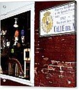 The Window On Calle Del Maine Acrylic Print