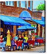 Ti Amo Restaurant Prince Arthur Street Montreal Acrylic Print
