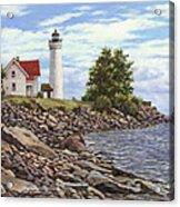 Tibbetts Point Lighthouse Acrylic Print by Richard De Wolfe