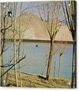 Tibet Lake Burial Acrylic Print