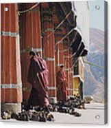 Tibetan Monks At Sera Acrylic Print