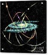 Tidal Disruption Of Dwarf Spheroidal Galaxies Acrylic Print