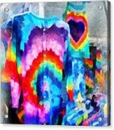 Tie Dye Shirts Acrylic Print