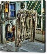 Tied Up Lines Acrylic Print by Michael Thomas