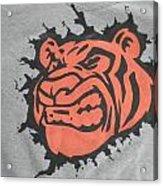 Tiger Splatter Custom Painted Crewneck Sweatshirt Acrylic Print by Joseph Boyd