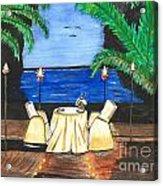 Tiki Light Dining Acrylic Print