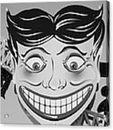 Tillie The Clown Of Coney Island In Black And White Acrylic Print