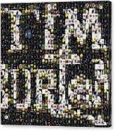 Tim Burton Poster Collection Mosaic Acrylic Print