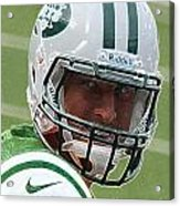 Tim Tebow Art Deco IIi - New York Jets -  Acrylic Print by Lee Dos Santos