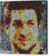 Tim Tebow Mms Mosaic Acrylic Print by Paul Van Scott