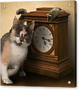 Time For Cat And Mouse Acrylic Print