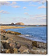Time-honored New England Coast Acrylic Print by Extrospection Art