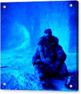 Time Stopped In A Huge Snow Ice  Grotte Acrylic Print by Colette V Hera  Guggenheim