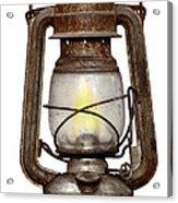 Time Worn Kerosene Lamp Acrylic Print