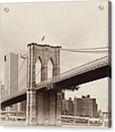 Timeless-brooklyn Bridge Acrylic Print
